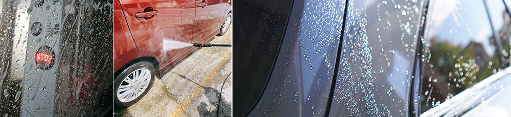 環境にやさしい業界最速クラスの洗車機です。